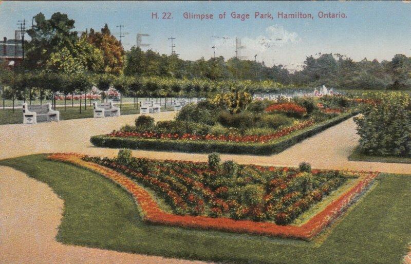 HAMILTON, Ontario, Canada, PU-1930; Glimpse of  Gage Park