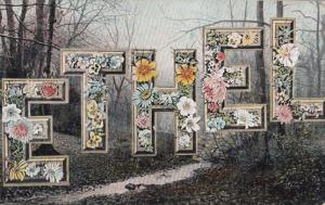 A Girls Named Called ETHEL Tree Forest Woods Lane Antique Postcard