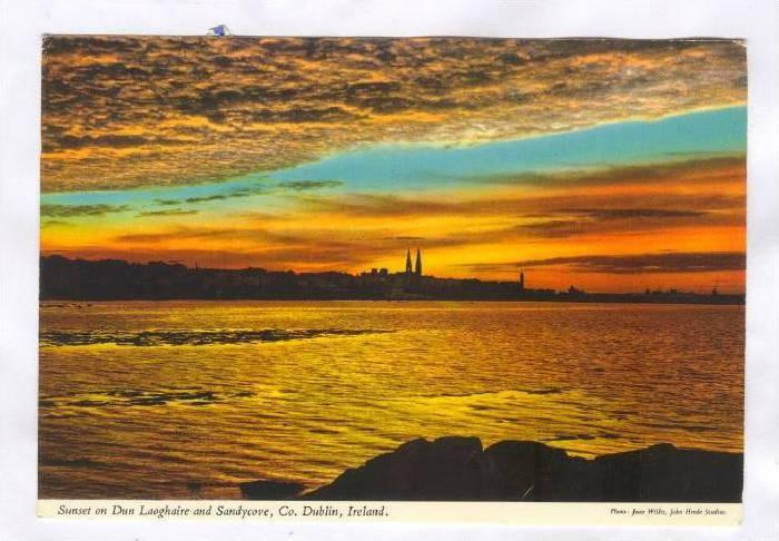 Sunset, Dun Laoghaire and Sandycove, Co. Dublin, Ireland, PU-1972