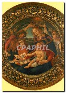 Postcard Modern Firenze - Uffizi Gallery - Botticelli - Madonna of the 'Magni...