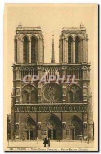 Old Postcard Notre Dame Paris frontage