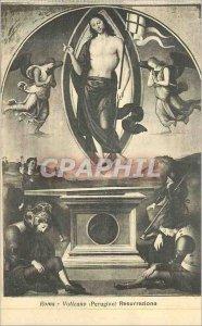 Postcard Old Roma Vaticana (Perugino) resurrezione