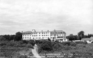 Scarborough Beach Maine Atlantic House Boardwalk Real Photo Postcard JE229373