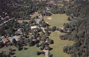 Memphis Tennessee~Overton Park~Aerial View~9-Hole Golf Course 1950s Postcard