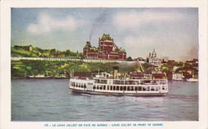 Le Louis Jolliet En Face De Quebec- Louis Jolliet In Front Of QUEBEC, Canada,...