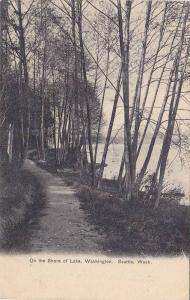 On the shore of Lake, Washington, Seattle,  Washington,  PU_1906