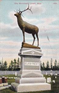 Massachusetts Lowell Elks Monument 1908