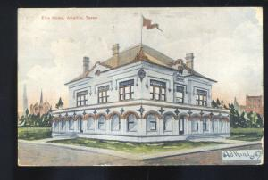 AMARILLO TEXAS ELKS HOME LODGE ANTIQUE VINTAGE POSTCARD MARSHALL MISSOURI