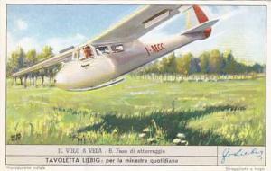 Liebig Trade Card S1683 Wind Flight No 6 Fase di atteraggio