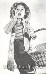 Non Postcard Backing,  Actress Shirley Temple Postcard Post Card Actor Actres...