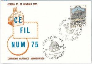 50406   CARTOLINA d'Epoca - FORLI provincia -  CESENA  : Mostra Filatelica 1975
