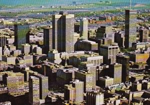 Canada Magnificent Aerial View Of The Downtown Montreal Quebec