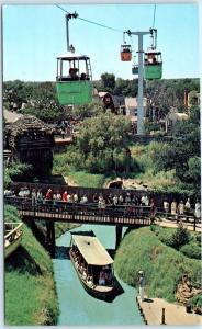Dallas SIX FLAGS OVER TEXAS Amusement Park RIVER BOATS, ASTROLIFT Rides Postcard