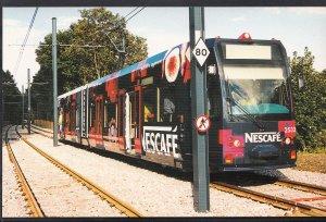 Tram Transport Postcard - Croydon Tramlink - Tram at Coombe Road Station  EE422