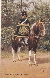 The Royal Horse Artillery. Driummer Tuck Oilette PC # 9425