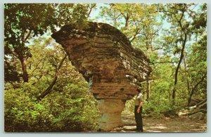 Eureka Springs Arkansas~Pivot Rock~Natural Freak of the Ozarks~Postcard