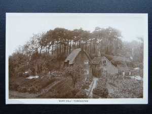 Northamptonshire TOWCESTER Bury Hill - Old RP Postcard by G. Farey of Towcester
