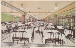 LOS ANGELES, California, 1910s; Dining Room, Hotel Rosslyn