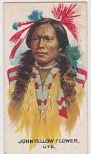 B A T Vintage Cigarette Card Indian Chiefs No 20 John Yellow Flower Ute Tribe...