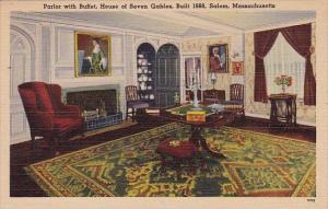 Parlor With Buffet House Of Seven Gables Built 1668 Salem Massachusetts