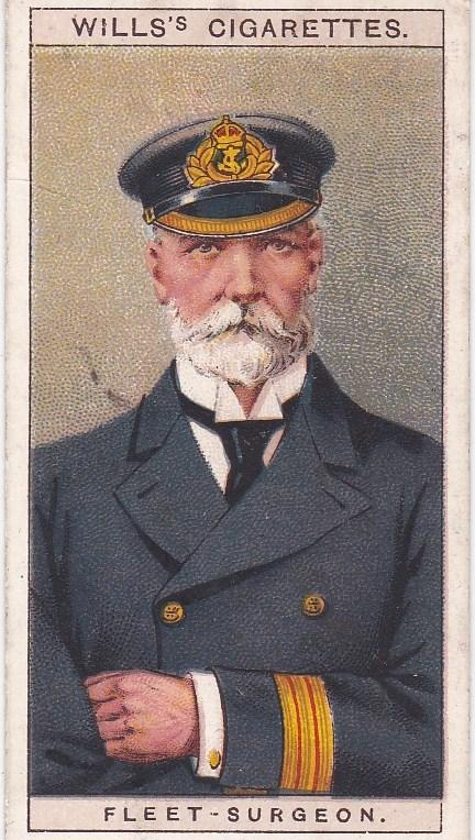 Cigarette Card Wills Naval Dress & Badges No 27 Fleet-Surgeon