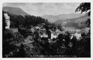 Vintage REAL PHOTO Postcard LA BOURBOULE General View Mountains FRANCE
