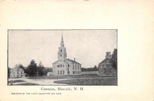 Hancock NH Congregational Church, Meeting House? on the Common c1906 UDB B&W