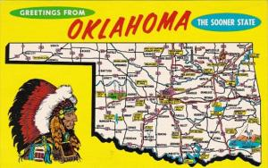 Greetings From Oklahoma With Map