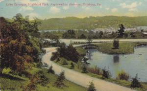 Lake Carniage, Highland Park, Aspinwall in distance, Pittsburg, Pennsylvania,...