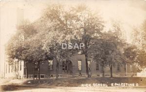 Ohio Postcard Real Photo RPPC 1911 EAST PALESTINE High School Building