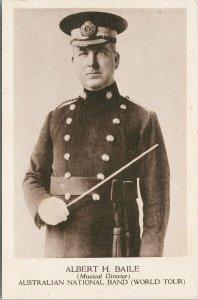 Albert H. Baile Musical Director Australian National Band Unused Postcard E71