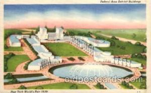 New York Worlds Fair 1939 exhibition postcard Post Card  Federal Bldg.