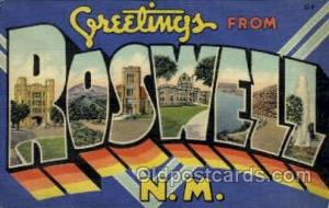 Roswell, NM, New Mexico,USA Large Letter USA Town, Towns, Postcard Postcards ...
