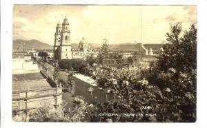 RP; Aerial View, Cathdral, Morelia, Michoacan, Mexico, 20-40s