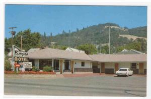 Sycamore Motel Car Roseburg Oregon postcard