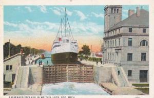 Michigan Soo Passenger Steamer In Weitzel Lock Curteich
