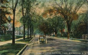 Old Auto on East Avenue looking East, Rochester, New York - DB