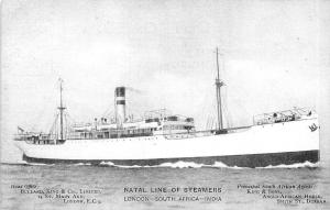 Natal Line of Steamers, London South Africa - India