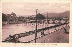 Old Postcard Namur Boulevard Ad-Aquain and Vallee de la Meuse