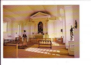 Fortress of Louisbourg, Interior of Church, Garrison Chapel, Nova Scotia,