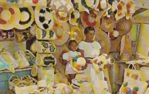 Bahamas Nassau Visitors At Native Straw Market