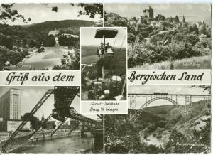Germany, Gruss aus dem Bergischen Land, 1963 used real photo