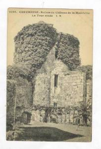 Ruines Du Chateau De La Madeleine, La Tour Ronde, Chevreuse (Yvelines), Franc...