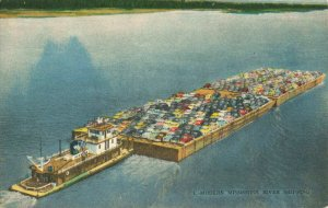 Postcard Modern Mississippi River Shipping