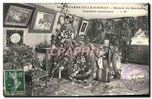 Postcard Old City of Sevres & # 39Avray House Gambetta mortuary Room