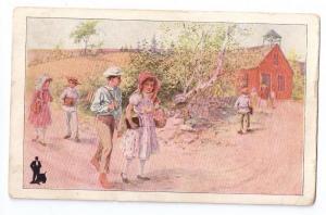 Walk-Over Shoes Advertising Postcard Children School 1913