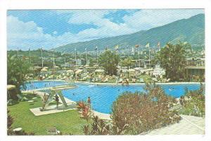 View of the city from the Fabulous Tamanaco Hotel, Swimming Pool, Caracas, Ve...