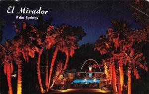 USA El Mirador Hotel Palm Springs California Night view Swimming Pool