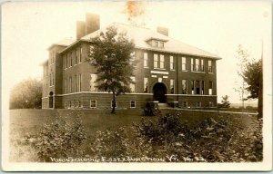1922 ESSEX JUNCTION, Vermont RPPC Real Photo Postcard HIGH SCHOOL Building View