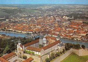 Wuerzburg Marienberg Gesamtansicht Bruecke Bridge General view